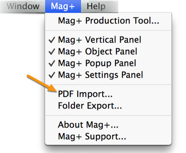 In InDesign, go to Mag+ -> PDF Import... in the menu bar.