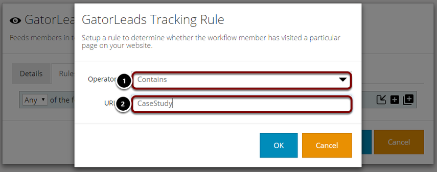 Applying logic to your GatorLeads Tracking Rule