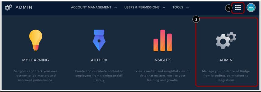 Ouvrir le menu Sélecteur d'applications
