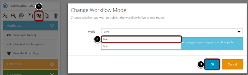 Change the Workflow Mode