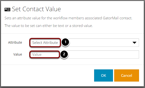 Set Contact Value