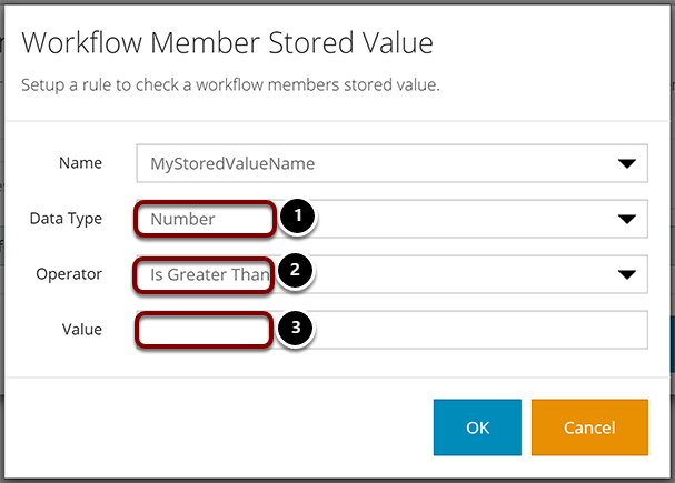 Workflow Member Stored Value for Numbers