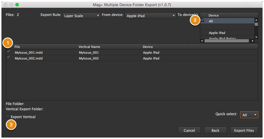 mag+ Menu - Using the Folder Multi-Device Export – Mag+