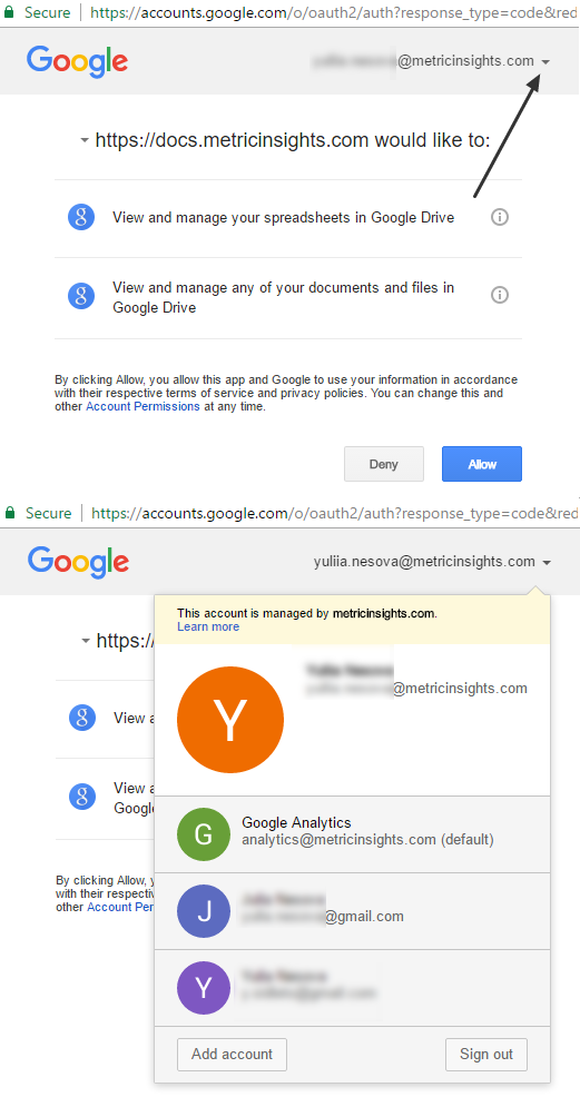 Getting token for multiple Google accounts
