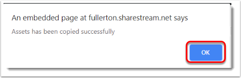 OK button is selected (3#)