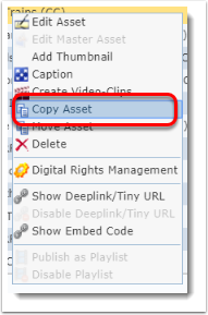 Copy Asset is selected.