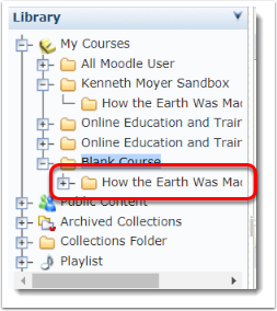 How the Earth was made folder is now in both courses.