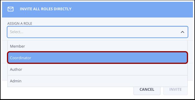 Click Coordinator option