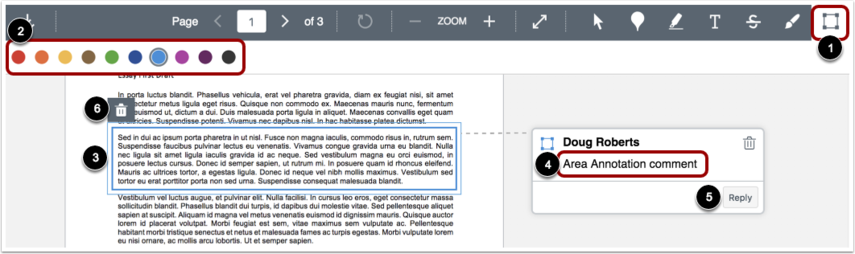 Add Area Annotation
