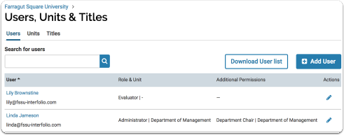 Your organizational hierarchy is created and edited from the Users & Units page
