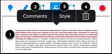Modify Strikeout Text Annotation