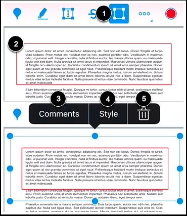 Modify Area Annotation