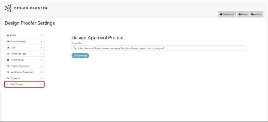 Client Prompts