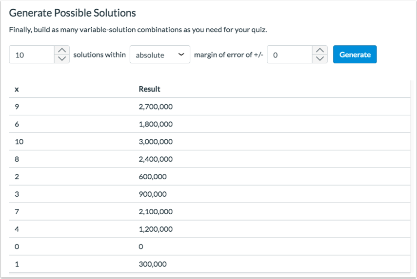 View Possible Solutions