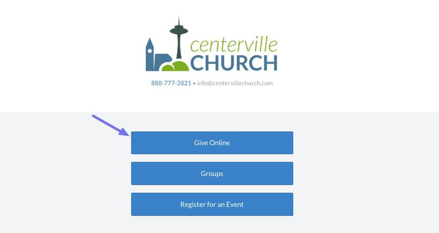 ChurchCenterOnline page
