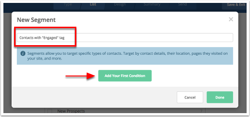 Creating segments – ActiveCampaign Help Center