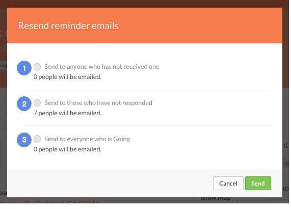 Reminder emails