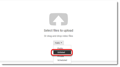 Unlisted is selected.