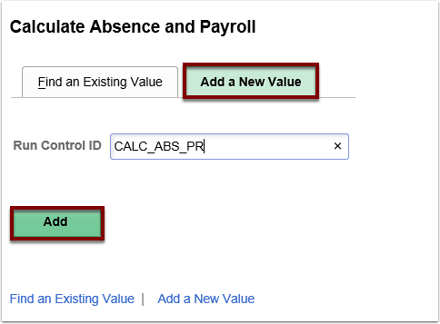 running the calculate absence and payroll process reports queries