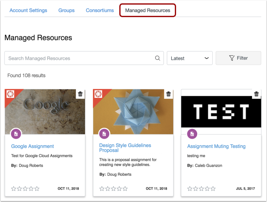 View Managed Resources
