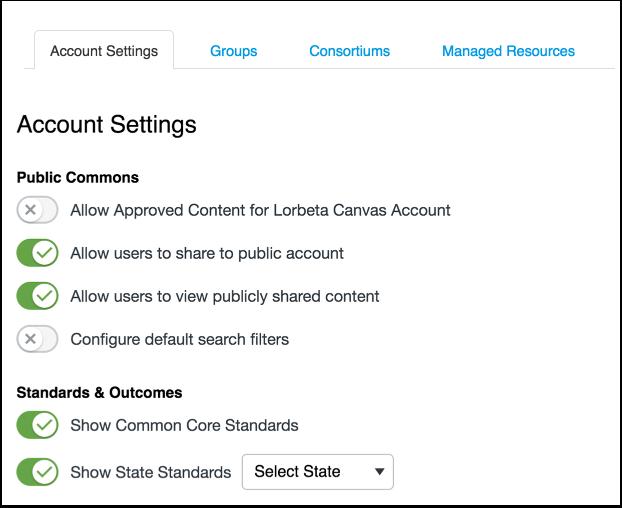 View Account Settings