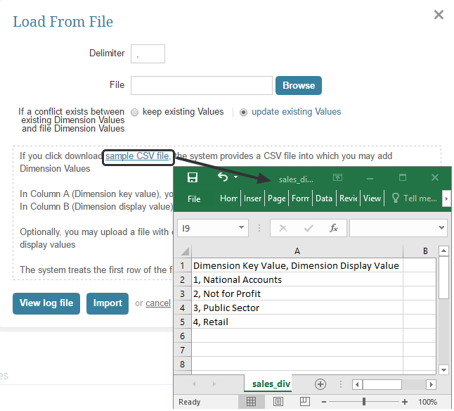 If necessary, download and modify our Sample CSV file
