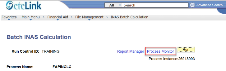 Batch INAS Calculation Process Monitor