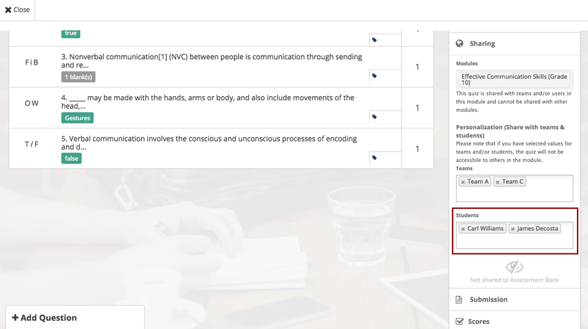 Personalised Learning (Instructors) – Teamie Help Center