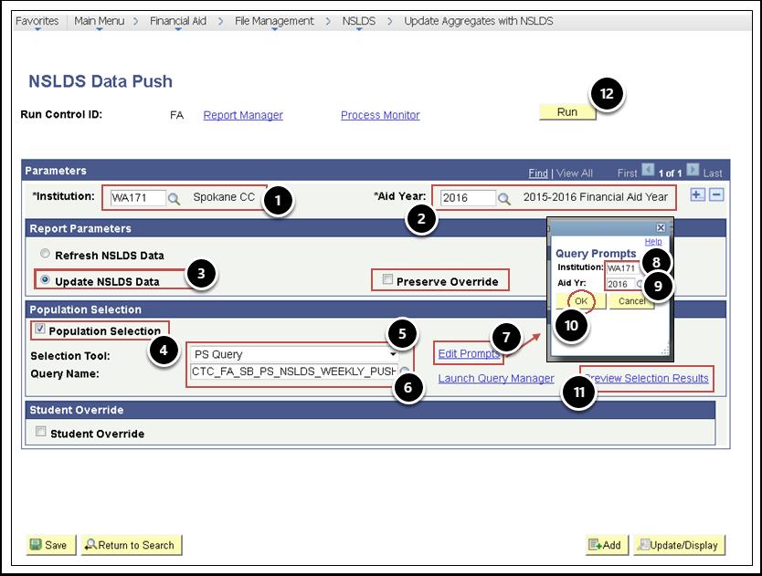 NSLDS Data Push Page