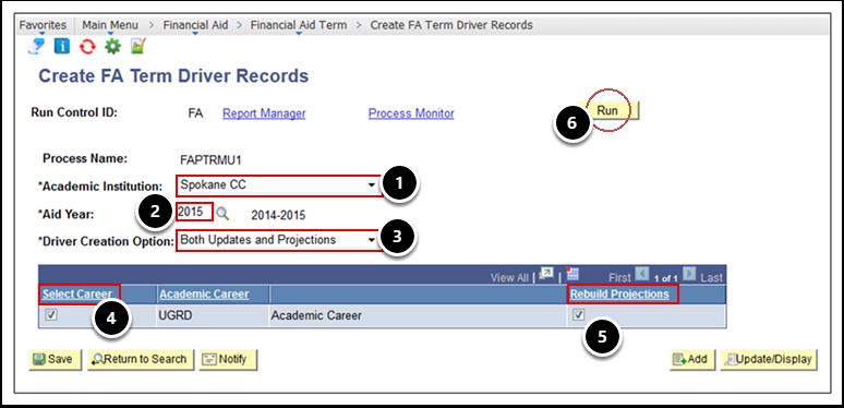 Create FA Term Driver Records