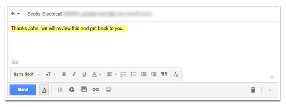 The client replies to your email