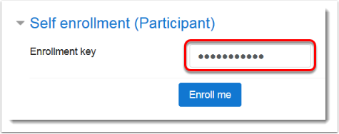 Enrollment key field is selected.