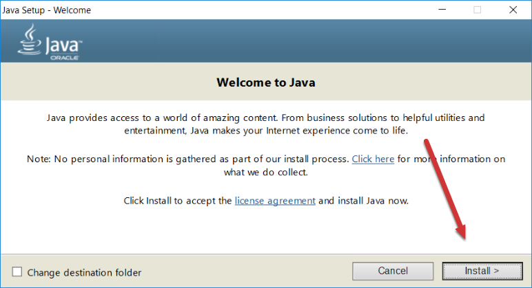 Java Setup - Welcome