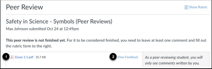 View Peer Review