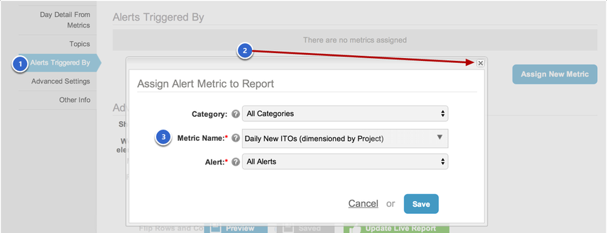 Send an internal (Metric Insights) Report