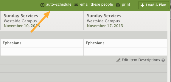 Once Needed Postions are set up, click on the 'auto-schedule' link