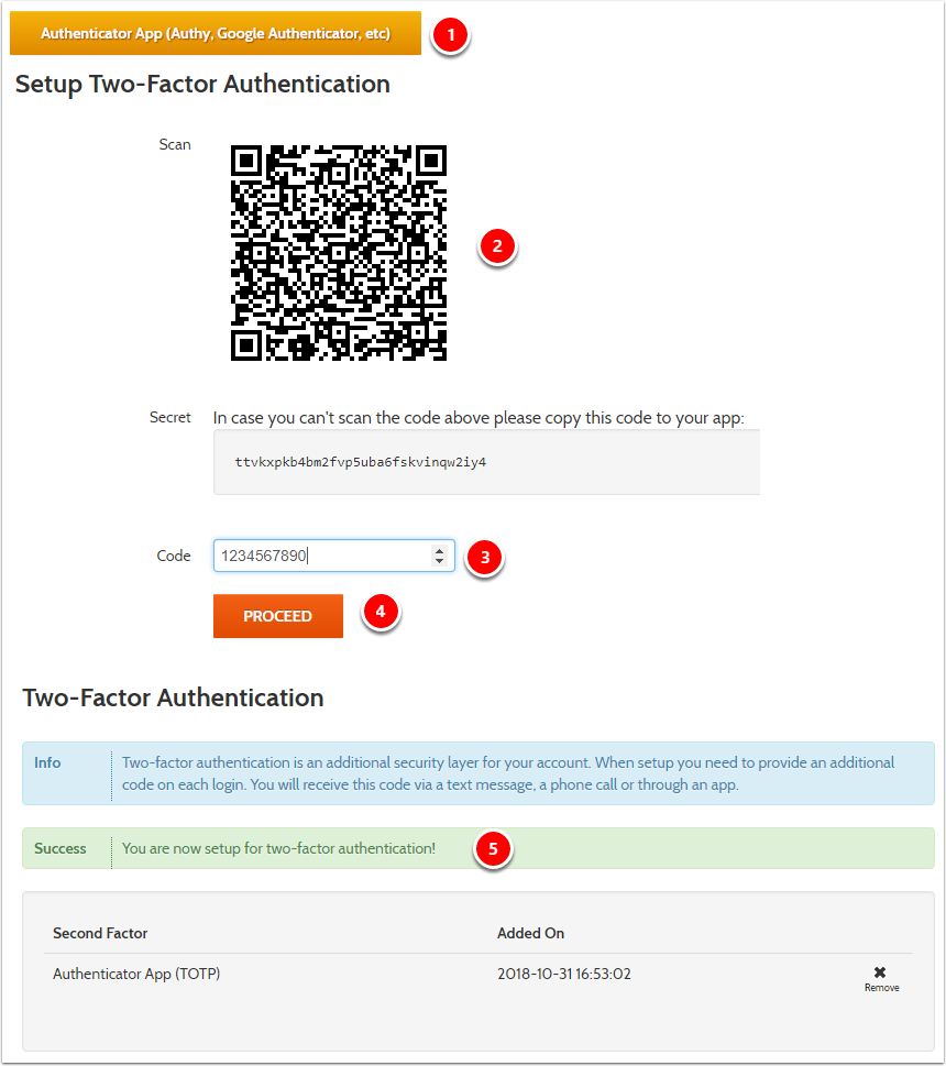 Security Controls for Credit Card Passwords and 2 Factor