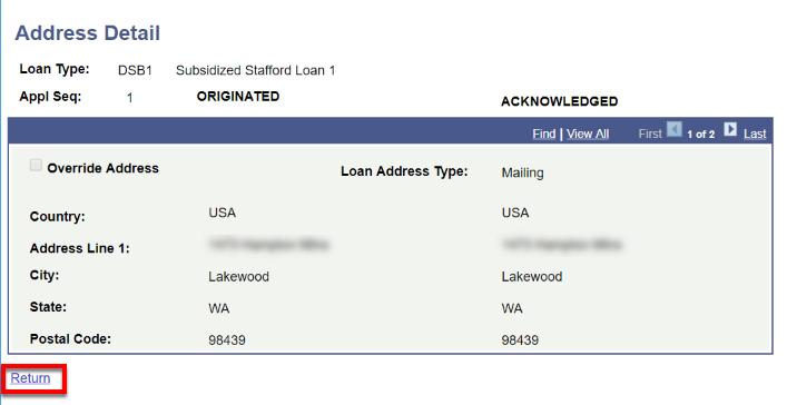 address detail page