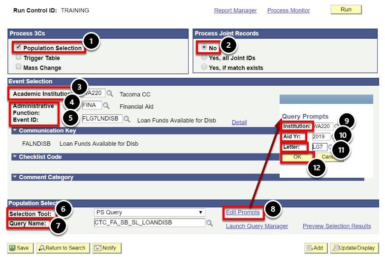 run 3 Cs parameters page