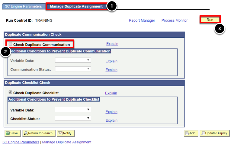 manage duplicate assignment