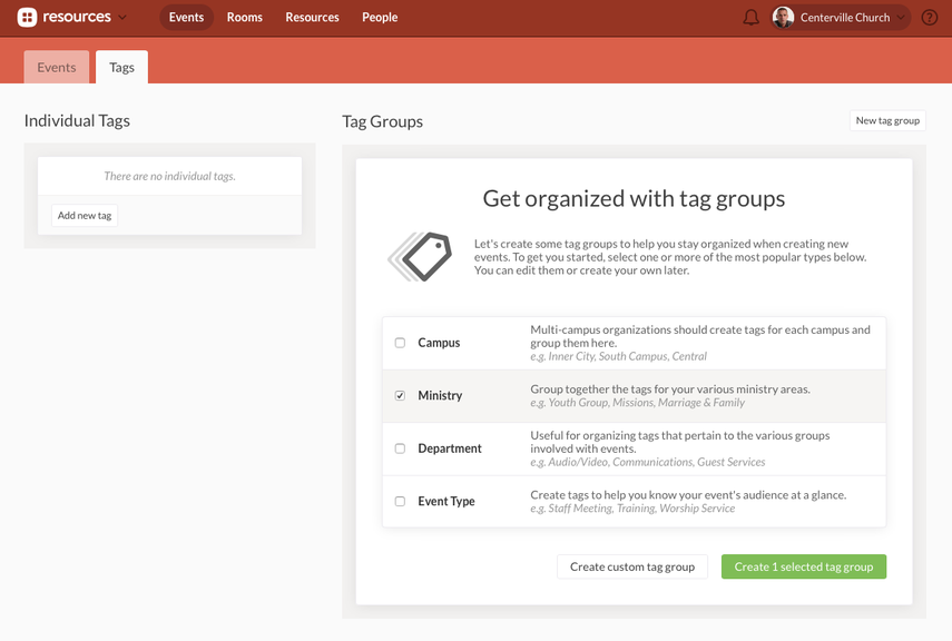 create tag groups