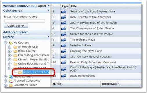 folder has videos listed.