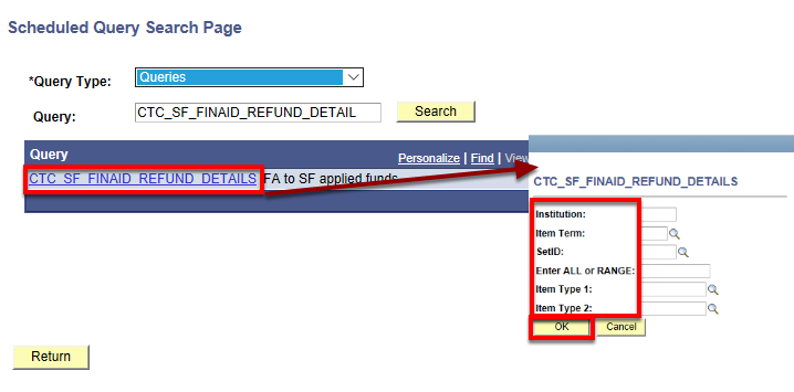 query link detail with additional prompts