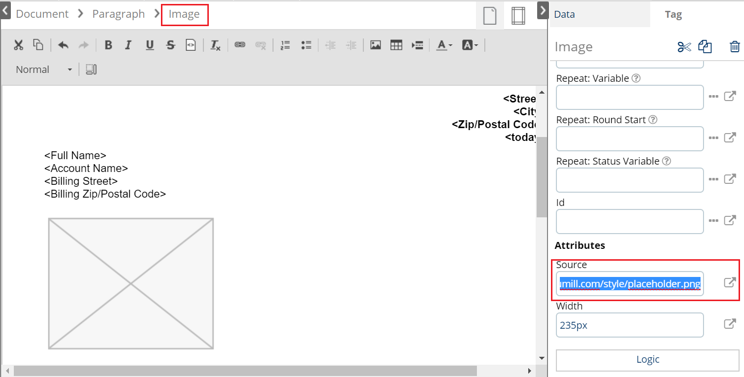 How to insert images to the document – Documill Support