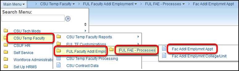 navigation to Faculty Additional Employment