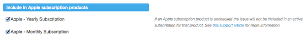(optional) If you have created Subscriptions for your content, also choose which Apple subscriptions the Mag+ Issue belongs to.