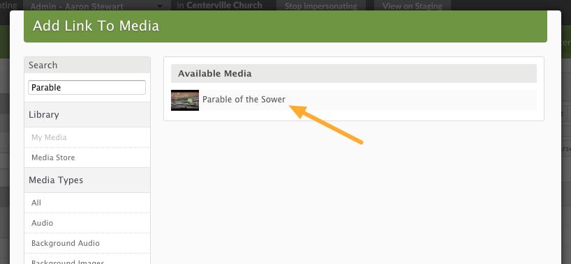 Click 'link media'