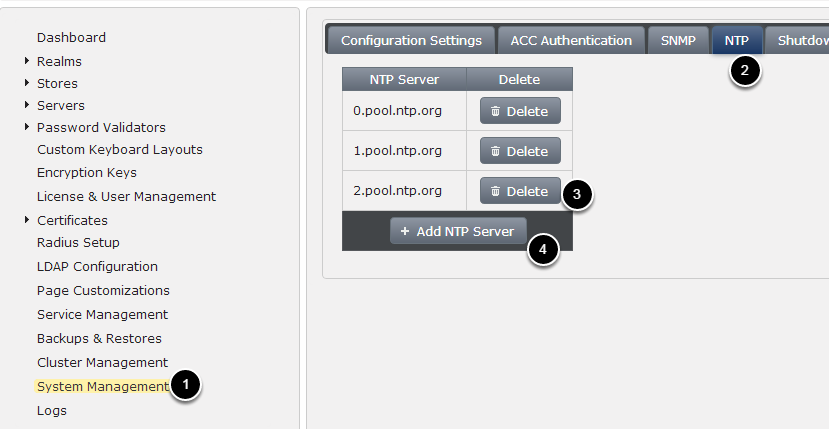 Setup NTP Servers