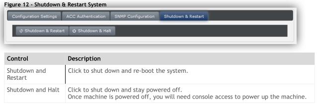System Shutdown & Restart