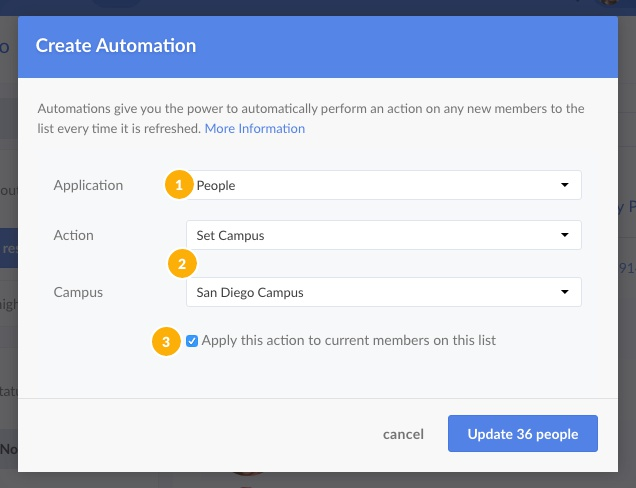 Select the Automation